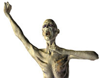 Screaming Zombie. 3D rendering of a screaming zombies Stock Photography