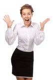 She screams in delight Stock Photos