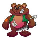 Screamy Bear. Illustrator design .eps 10 Royalty Free Stock Images