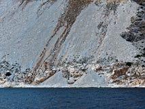 Scree倾斜希腊海岛大理石猎物 免版税库存图片
