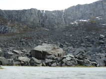 Scree at fjord in norway Royalty Free Stock Photo