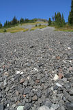 Scree Slope on Ring Mountain. South scree slope of Ring Mountain. British Columbia. Canada Stock Photo