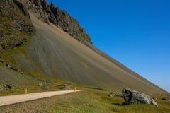 Scree (talus slope deposit). Talus slope deposit in Iceland Stock Images