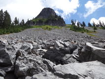 Scree and tower Royalty Free Stock Image