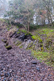 Scree under a ground breaking edge in the quarry at Bromberg Royalty Free Stock Photography