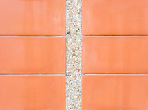 Scree wall with red plate Stock Image