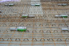 Screed with steel mesh stock image