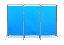 Screen. Blue screen on white background Royalty Free Stock Images