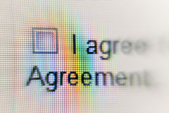 Screen. Close up of a computer screen Stock Photos
