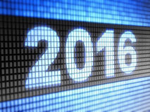 2016 on the screen Stock Photo