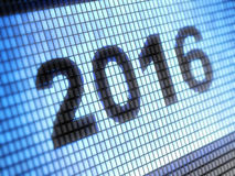 2016 on the screen Stock Image