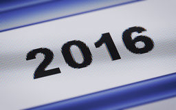 2016 on the screen Royalty Free Stock Image