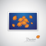 Screen. The blue screen with flowers background Royalty Free Stock Images