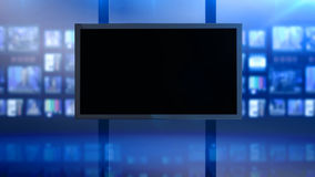 Screen by blue panels stock footage