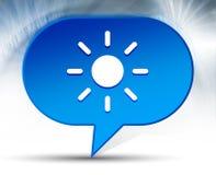 Screen brightness sun icon blue bubble background stock image