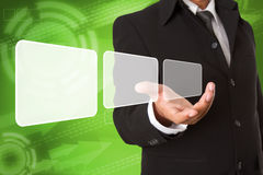 Screen Button Interface Royalty Free Stock Image