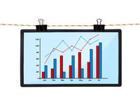 Screen with chart Royalty Free Stock Photography