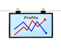 Screen with chart Royalty Free Stock Photo