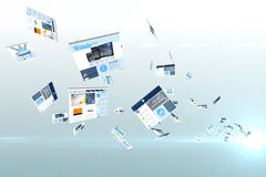 Screen collage showing business advertisement Royalty Free Stock Images