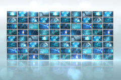 Screen collage showing computing images Royalty Free Stock Photo