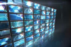Screen collage showing computing images Royalty Free Stock Images