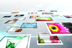 Screen collage showing lifestyle images Royalty Free Stock Photos