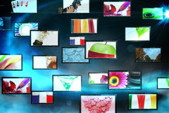 Screen collage showing lifestyle images Royalty Free Stock Image