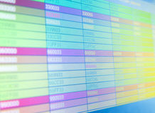 Screen with color codes. Screen with web color code writings Royalty Free Stock Images