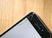 Screen cracked smartphone Royalty Free Stock Images