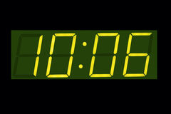 Screen digital clock Stock Images