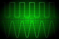 Screen digital oscilloscope Stock Photography