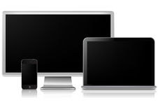 Screen display Royalty Free Stock Photo