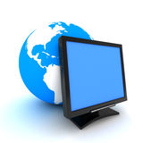 Screen and earth Stock Photography