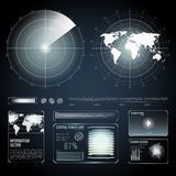 Screen Elements Of Search Radar Set Stock Photography