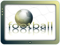 Screen and football Stock Images