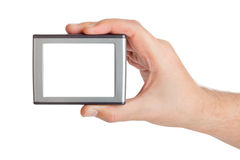 Screen in hand Stock Photography