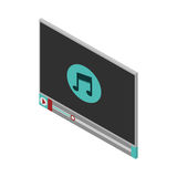Screen with icon music and play button Royalty Free Stock Photo