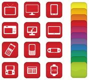 Screen Icons Stock Images