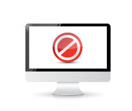 Screen with the message forbidden Royalty Free Stock Photo