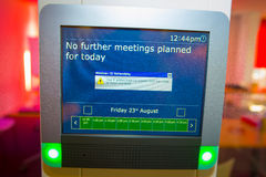 Screen with message no further meetings planned for today Stock Image
