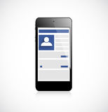 Screen mobile phone with social network app. This is file of EPS10 format Stock Photography