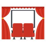 Screen in movie theater Royalty Free Stock Photos