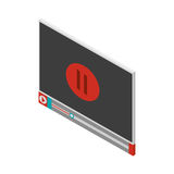 Screen with pause icon and play button Royalty Free Stock Photo