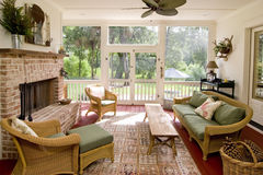 Screen Porch Stock Image