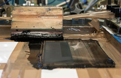 Screen printing and black ink Stock Images
