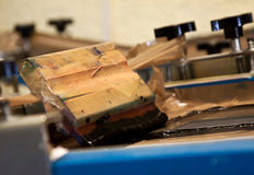 Screen printing device Royalty Free Stock Image
