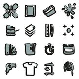 Screen Printing Icons Freehand 2 Color Stock Photos
