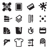 Screen Printing Icons Stock Photography