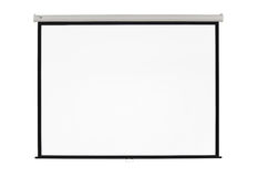 Screen projector. White screen projector clean background Stock Photos