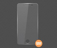 Screen protect Glass. Vector screen protector film or glass cover. Screen protect Glass Royalty Free Stock Photo
